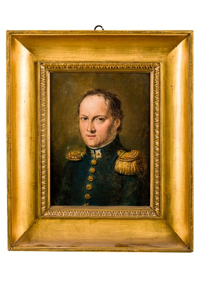 Francesco Podesti - Portrait of General Millefiorini, commander of the Noble Guard of His Holiness
