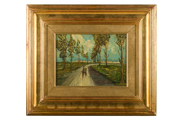 Alessandro Gallotti - Tree-lined path with figures
