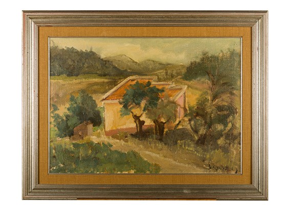 Silvano Quirici - Glimpse of countryside with house